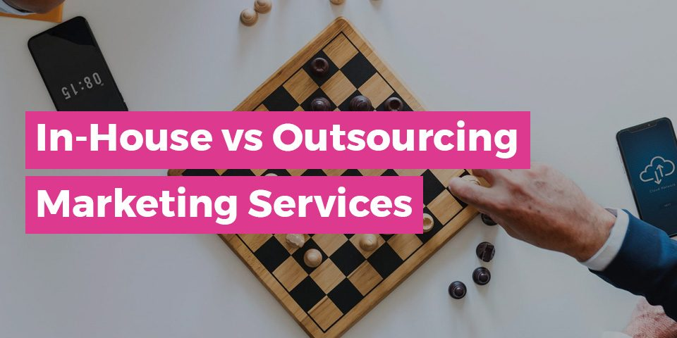 In - House Outsourcing Marketing Services Graphic | Man Playing Chess